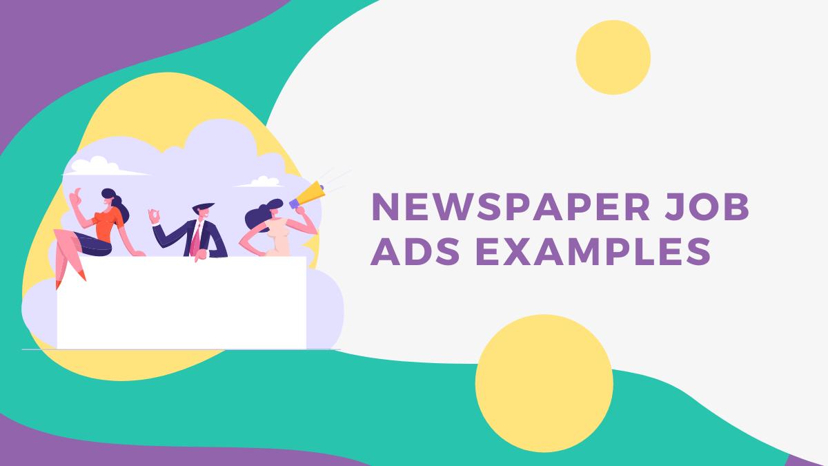 How to Create Newspaper Job Ads